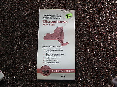 US Geological Survey topographic map metric New York USGS 1978 ELIZABETHTOWN