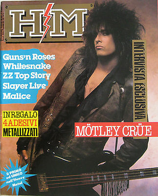 HM 20 1987 Mötley Crüe Whitesnake Guns N'Roses Malice Slayer ZZ Top Onslaught