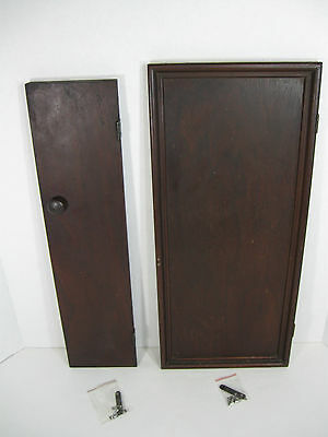SINGER Drawing Room Cabinet PARTS ~ Right Front & Side DOORS ~ Solid Mahogany