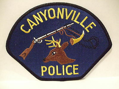 police patch   CANYONVILLE  POLICE OREGON