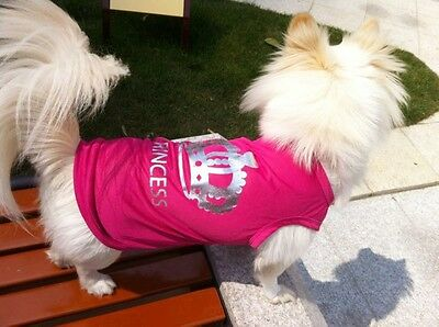 """pull pour petit chien rose """"princess"""" taille S pink dog costume princess"""
