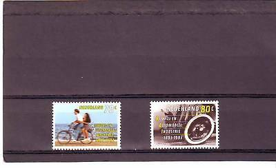 Netherlands - Sg1664-1665 Mnh 1993 Cycling & Motor Industry