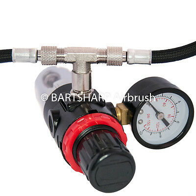 2 Way Airbrush Air Hose Splitter Manifold Airhose Splitter - Safety Threaded