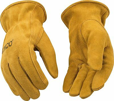 Kinco 50 Unlined Mens Suede Work Gloves Cowhide Driver Farm Child & Adult Sizes
