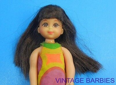 Brunette Mattel Chris Doll #3570 HTF w/Dress ~ Vintage 1960's