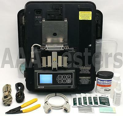 Siecor Corning X75 SM MM Fiber Optic Fusion Splicer w/ Siecor Cleaver