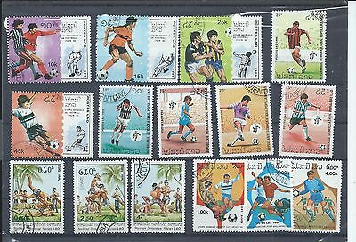 Laos stamps. Small used/CTO Sports lot (X596)