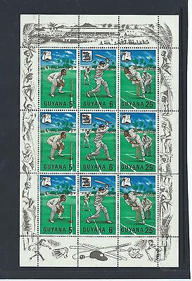 Guyana stamps. 1968 Cricket sheet MH - see desc. (X726)