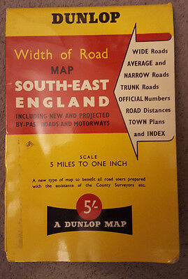 Dunlop Road Map of South-East England 1961