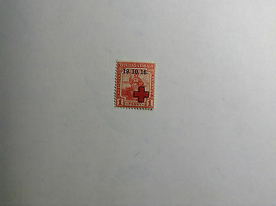Trinidad,1d 1916 Red Cross Overprint SG19A
