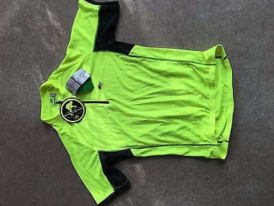 Cycling Jersey. Short Sleeve. Size Large. New. High Vis