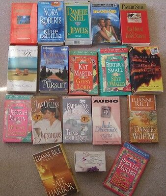 lot:48 FICTION AUDIO BOOKS on tape (audiocassettes)