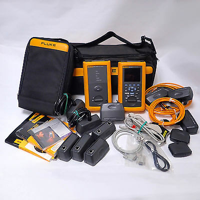 Fluke Dsp-4100 Cable Analyzer Dsp-4100Sr Smart Remote And Accessories