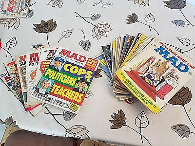 Mad Magazines Job Lot and a copy of Cracked Magazine