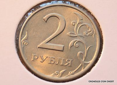 1998 TWO RUBLES SMALL RUSSIA 23mm SIZED CIRCULATED WORLD  #PBG2