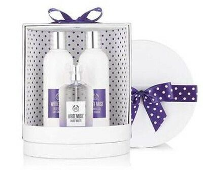 Body Shop White Musk  Gift Set :edt 100Ml + Shower Gel 250Ml +Body Lotion 250Ml