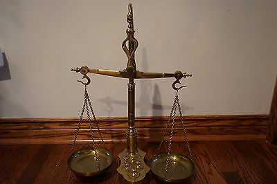 Antique Pharmacy Apothecary Balance Scale with Weight Set