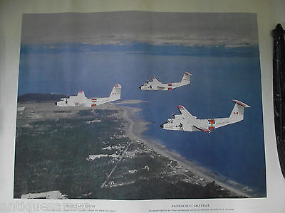 Search And Rescue Canadian Forces Buffalo Airplane Vintage Poster