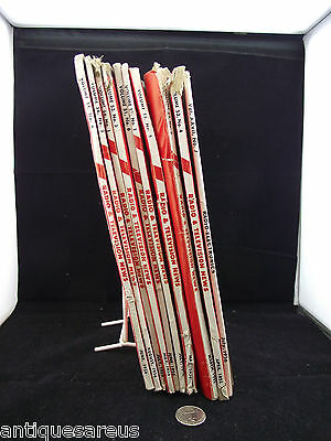 10 Lot 1950's Radio And Television News Magazine Lot Loads Of Advertising