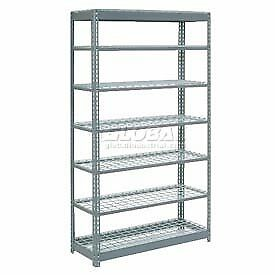 """Heavy Duty Shelving 48""""W x 24""""D x 96""""H With 7 Shelves, Wire Deck"""
