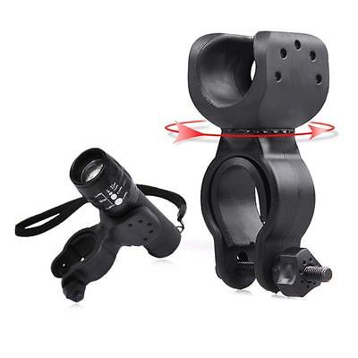 Torch Clip Mount Bicycle Front Light Bracket Flashlight Holder 360°Rotation tips