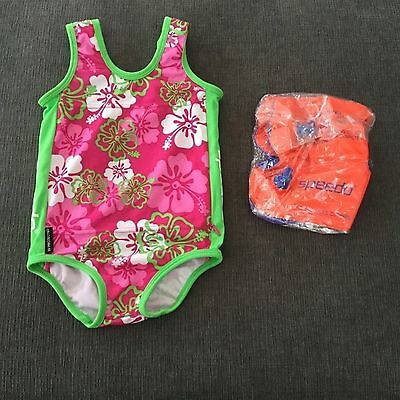 New baby girl speedo swim suit size 1-2years chest 20""