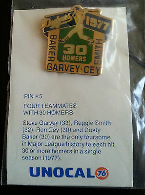 Vintage Unocal Dodgers 1977  Four Teammates 30 Homers Baker Garvey Cey Smith
