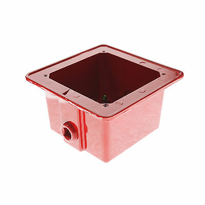 Edwards 757A-Wb Red Weatherproof Fire Alarm Device Box, Red Metal
