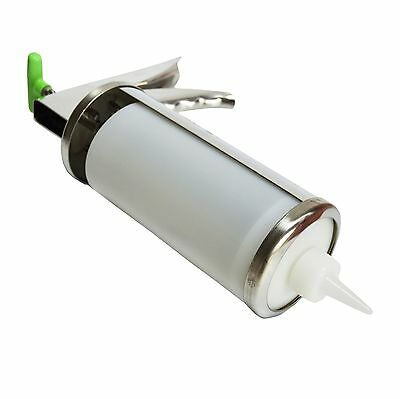 Stainless Steel Condiment Dispenser Sauce Gun with Squeeze Plastic Bottle F0092