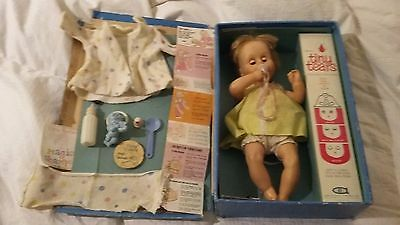 Tiny Tears Doll with Original Cardboard Case & Accessories American Character