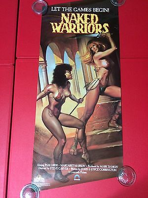 Naked Warriors - Original Video Movie Poster - Rolled - Pam Grier - 1988