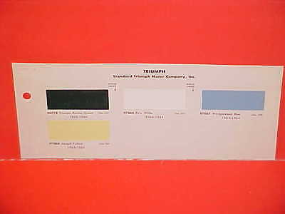 1963 1964 Standard Triumph Spitfire Mk I Convertible Tr-4 Tr4 1200 Paint Chips