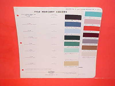 1958 Mercury Monterey Park Lane Montclair Turnpike Cruiser Medalist Paint Chips
