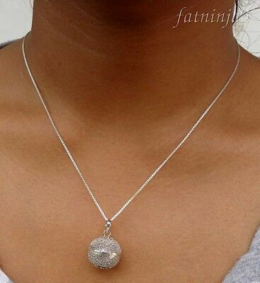 Solid Silver, 925 Necklace & Mystic Chime Pendant Bali Handcrafted 28476
