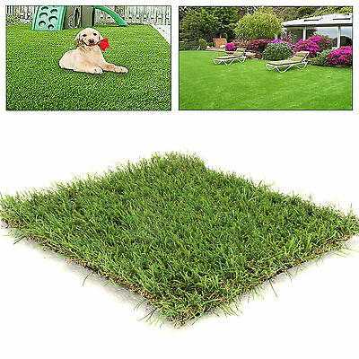 Artificial Outdoor Garden Grass Mat Lawn Ornament 40mm Thick 0.98ft*0.98ft Turf