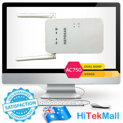 Netgear EX6100 AC750 750Mbps Dual Band Wireless Range Extender WiFi Booster OZ