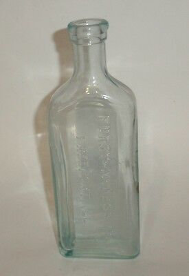 Antique Furst McNess Co Freeport Illinois Embossed Medicine Glass Bottle NICE!