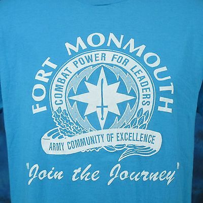 vtg 80s US DEPARTMENT OF THE ARMY FT. MONMOUTH PAPER THIN T-Shirt M/L new jersey