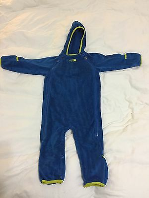 Spring/Fall!  North Face Baby Bunting Blue Buttery Fleece 12-18 months.