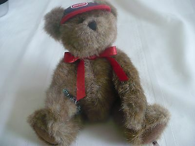 """Boyds Bears Keith Licensed Coca-Cola Bear 8"""" Plush With Tag"""