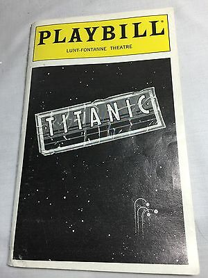 Playbill Titanic Lunt-Fontaine Theater September 1998 021616