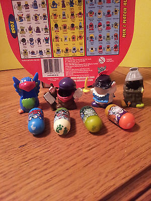 Mighty Beanz Grab Bag  #8 Mix Lot of 4 Beanz and 4 Mighty Bodz Costumes