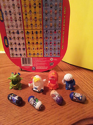 Mighty Beanz Grab Bag # 2 Mix Lot of 4 Beanz and 4 Mighty Bodz Costumes