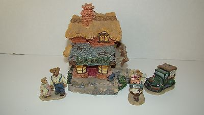 Boyds Bears Ted E. Bear Shop & Accessories In Original Boxes