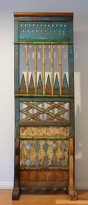 Balinese Antique Decorative Screen Panel in Teak