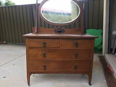 Antique Chest of draws with Mirror