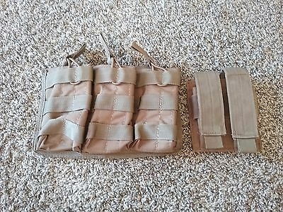 Voodoo tactical pouches - one AR and one pistol - coyote