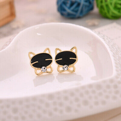 New Fashion Women Lady Triangle Crystal Rhinestone Ear Stud Silver Gold Earrings