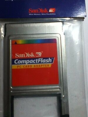 Sandisk PC Card Adapter PCMCIA for CompactFlash Memory Cards
