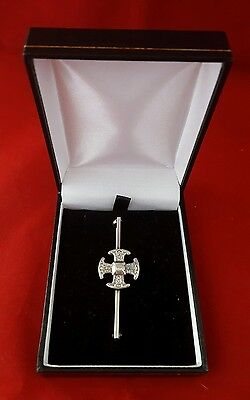 Vintage Silver Celtic Cross Brooch Scottish Pin